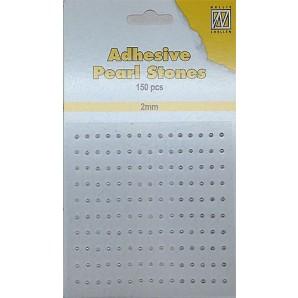 Nellie`s Choice Plak parels 2mm Wit - Ivoor - Zilver APS207