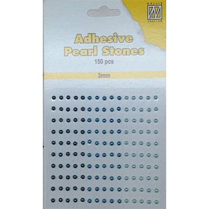 Nellie`s Choice Plakparels / Adhesive gems aqua 3 mm APS303