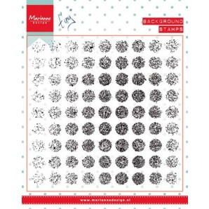 Marianne D Stempel Tiny's background Distressed dots CS0977 (09-16)