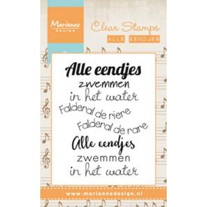 Marianne D Stempel Liedje Alle eendjes (NL) CS0984 7,5x11,5cm (02-17)