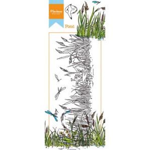 Marianne D Stempel Hetty's border vijver HT1616 7,5x18,5cm (03-17)