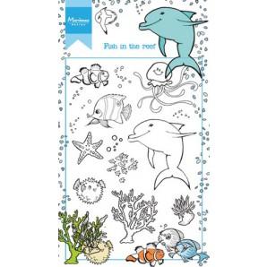 Marianne D Stempel Hetty's Vissen in het rif HT1618 10,5x18,5cm (05-17)