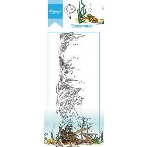 Marianne D Stempel Hetty's border onderwater HT1620 7,5x18,5cm (05-17)