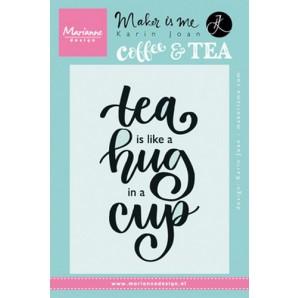 Marianne D Stempel Quote - Tea is like a hug in a cup (EN) KJ1710 9,0x13,5cm (04-17)