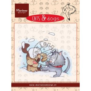 Marianne D Clear stamp Cats & dogs - snow fun CD3501