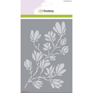 CraftEmotions Mask stencil - magnolia A5 spring Time (02-17)