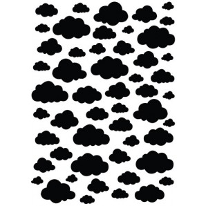 Nellies Choice Plastic Mixed media stencil A5 - clouds NMMS007 (08-16)