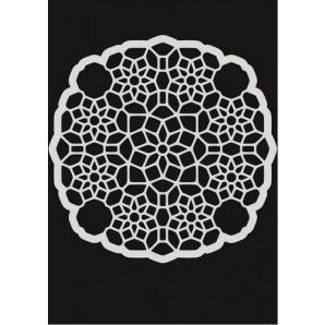 Pronty Mask stencil - Ornament bloemen 470.801.040 147x147mm (03-17)