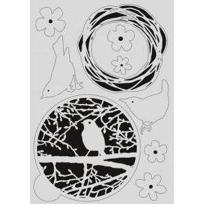 Pronty Mask stencil - Gel vogel 470.803.037   A4 (03-17)