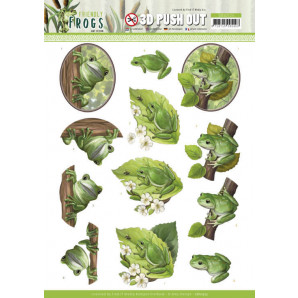 3D Push Out - Amy Design - Friendly Frogs - Tree Frogs 10523