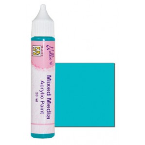 Nellies Choice Mixed media verf satijn turquoise  28ml MMAP006