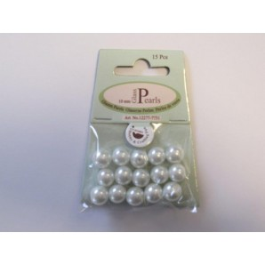 Glass Pearls 10mm white