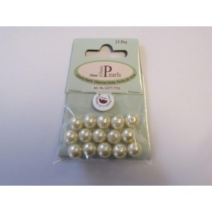 Glass Pearls 10mm beige