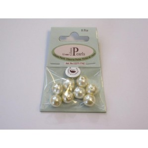 Glass Pearls 12mm beige