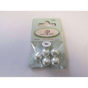 Glass Pearls 14mm white