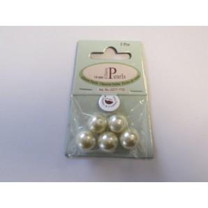 Glass Pearls 14mm beige