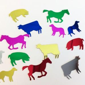 Confetti boerderij dieren assorti 10gr 12421-2112