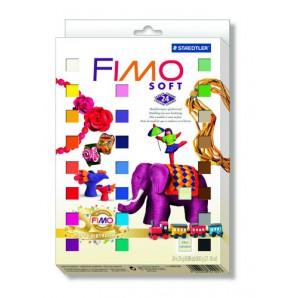 Fimo Soft set etui 24 halve blokken Nostalgia 8023 02P