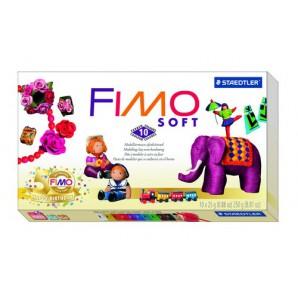 Fimo Soft basisset 10 halve blokken Nostalgia 8023 10P