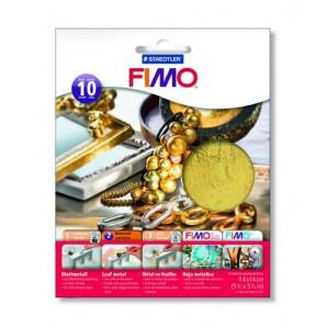 Fimo Bladmetaal zilver 10 vel 8781-81