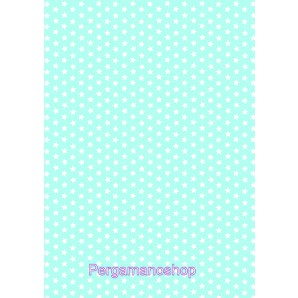 Perkamentpapier sterren lichtblauw 61575