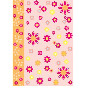 Vellum flower power oranje 62547