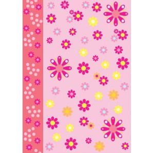 Vellum flower power roze 62548