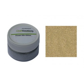 CraftEmotions Finest Silk Glitter goud 16gr