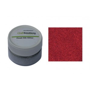CraftEmotions Finest Silk Glitter rood 16gr