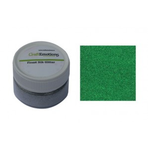 CraftEmotions Finest Silk Glitter groen 16gr