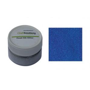 CraftEmotions Finest Silk Glitter blauw 16gr