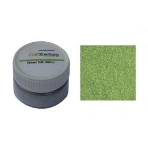 CraftEmotions Finest Silk Glitter lichtgroen 16gr