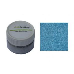 CraftEmotions Finest Silk Glitter lichtblauw 16gr