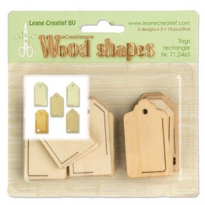LeCrea - Wood shapes Tags rectangle 71.2465  (08-16)