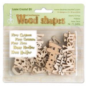 LeCrea - Wood shapes Merry Christmas & Happy New Year 71.2496  (08-16)