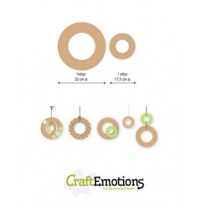 CraftEmotions MDF 2 ringen 32 - 17,5cm x 6mm