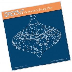 Groovi Plate A5 PEACE ON EARTH BAUBLE GRO-CH-41389-03