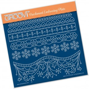 Groovi Plate A5 TINA'S A HEARTY CHRISTMAS GRO-CH-41278-03