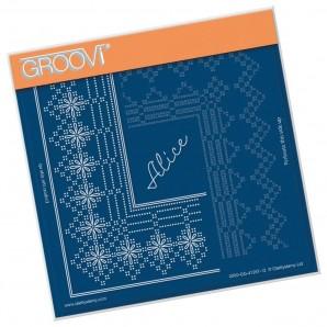 Groovi Grid Piercing Plate A5 PRINCESS ALICE GRID DUET