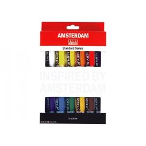 Amsterdam Acrylverf Talens set 12 tubes 20 ml