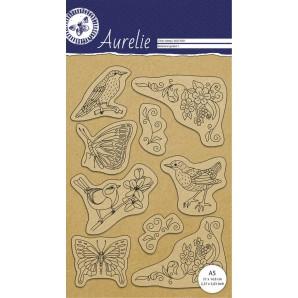 Aurelie Clear stempel Botanische tuin 1 AUCS1001