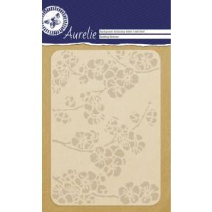 Aurelie embossing folder Budding Blossom Background