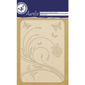 Aurelie embossing folder Butterfly Festival Background