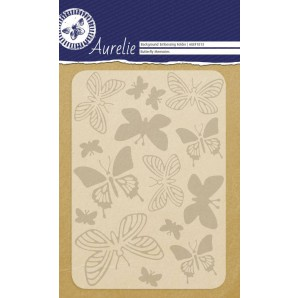 Aurelie embossing folder Butterfly Memories Background
