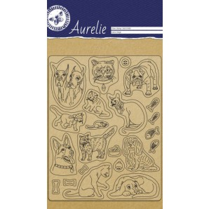Aurelie  Clear stempels Katten en Honden