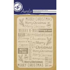 Aurelie embossing folder Christmas Sentiments  Background