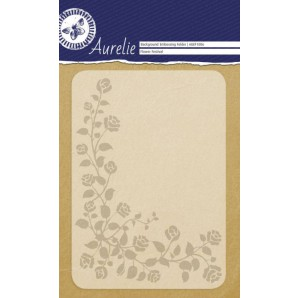 Aurelie embossing folder Flower Festival Background