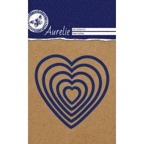 Aurelie Snij- & Embossingsmal Heart nesting