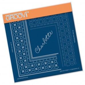 Groovi Grid Piercing Plate A5 PRINCESS CHARLOTTE GRID DUET