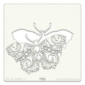 Clarity Art Stencil 7x7 Inch Filigraphy Butterfly